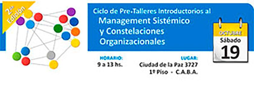 Ciclo de Pre-Talleres introductorios al management sistémico y constelaciones organizacionales