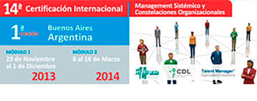 Certificación internacional management sistémico y constelaciones organizacionales