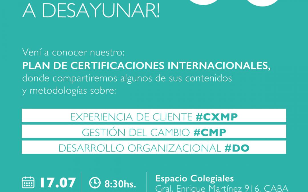 Desayuno –  Plan de certificaciones internacionales